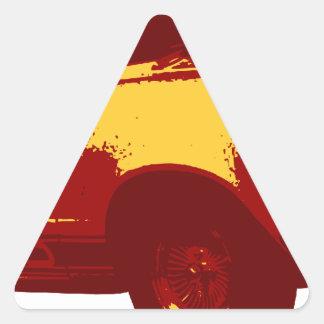 Muscle Car Triangle Sticker