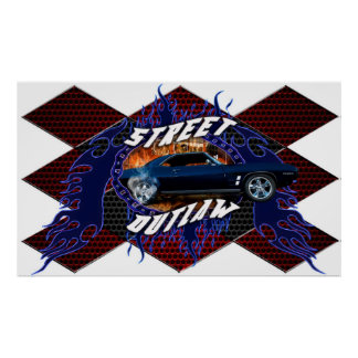 Muscle Car Street Outlaw Poster