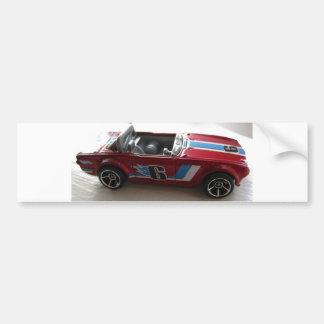 Muscle Car Toy Bumper Sticker