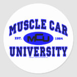 Muscle Car University II Round Stickers