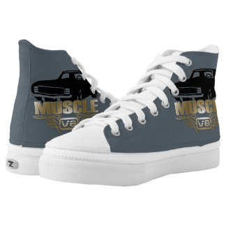 Muscle Car V8 High-Top Sneakers