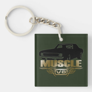 Muscle Car V8 Keychain