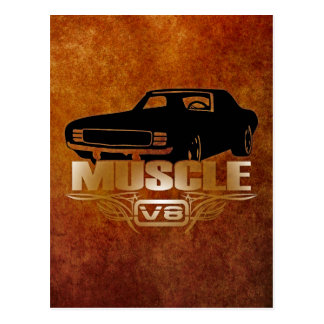 Muscle Car V8 Postcard