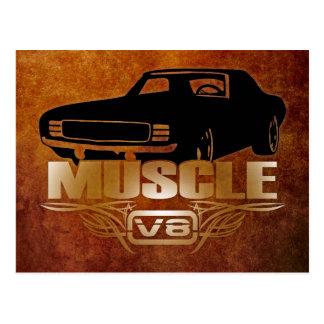 Muscle Car V8 Postcard