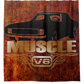 Muscle Car V8 Shower Curtain