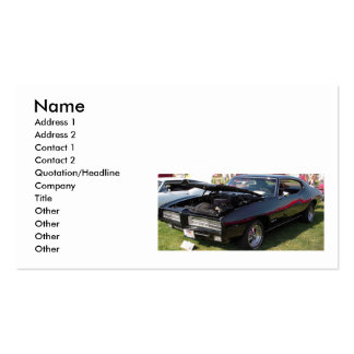 Muscle Cars Double-Sided Standard Business Cards (Pack Of 100)