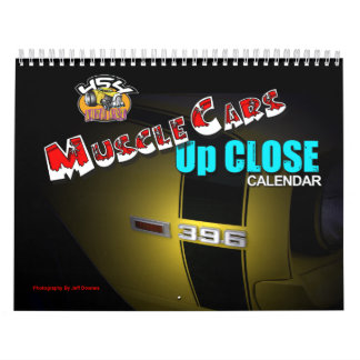 Muscle Cars Close Up Calendar