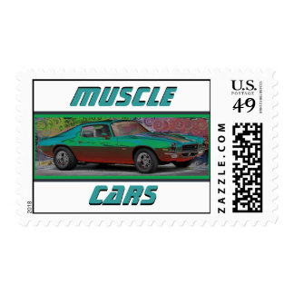 Muscle Cars Postage Stamps
