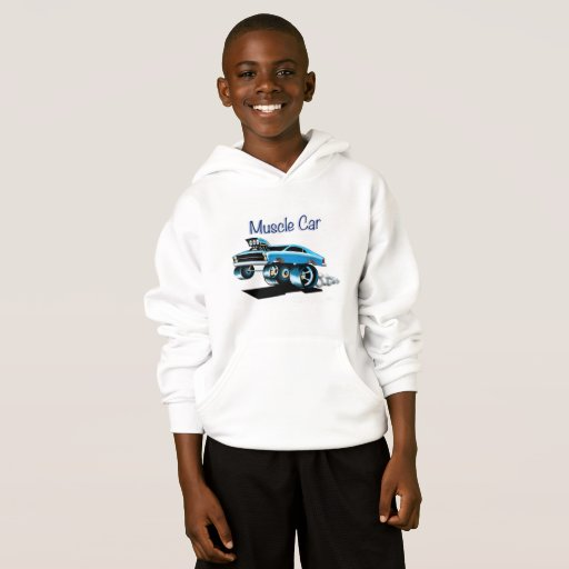 Muscle Cat Hoodie for Boys