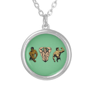 Muscle Crew - Strike a Pose Silver Plated Necklace