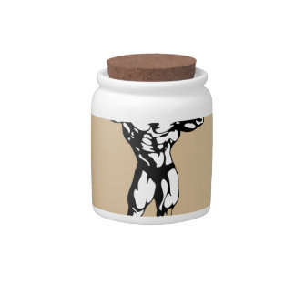 muscle form meat candy jar