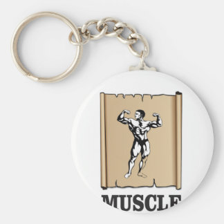 muscle form meat keychain