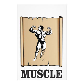 muscle form meat stationery