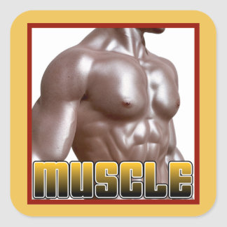 MUSCLE Gear Square Sticker