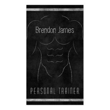 Muscle Man Personal Trainer Business Card profilecard