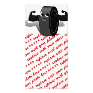 Muscle Man Hockey Puck Card