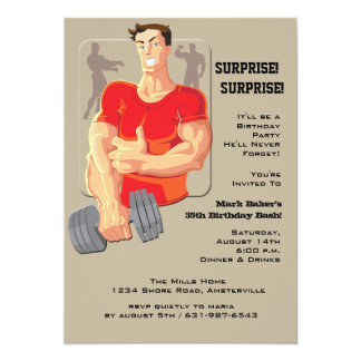 Muscle Man Invitation