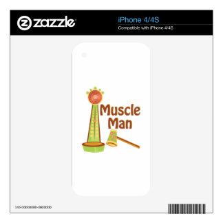 Muscle Man iPhone 4S Decals