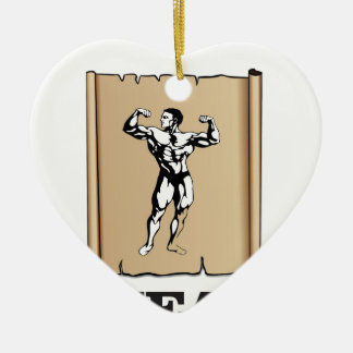 muscle man meat yeah ceramic ornament