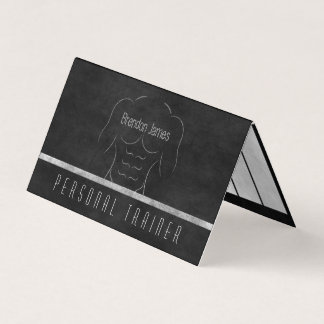 Muscle Man Personal Trainer Daily Workout Schedule Business Card