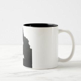 muscle man Two-Tone coffee mug