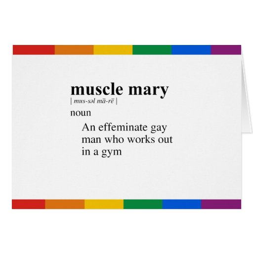 MUSCLE MARY GREETING CARDS