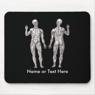 Muscle Men - Anatomy of the Human Muscular System Mouse Pad