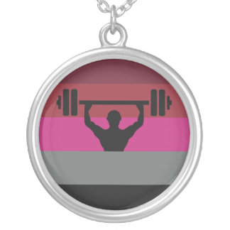 MUSCLE PRIDE ROUND PENDANT NECKLACE