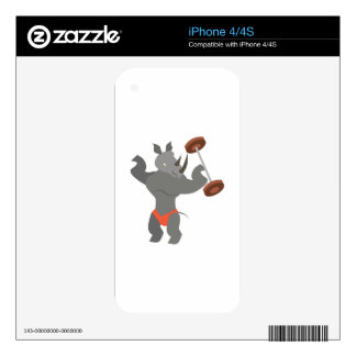 Muscle Rhino Decal For iPhone 4