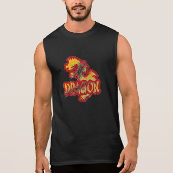 Muscle Shirt Year Of The Dragon Black by creativeconceptss at Zazzle
