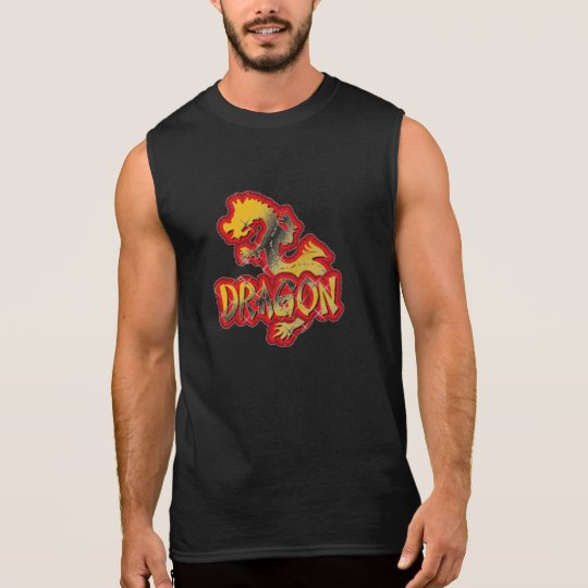 MUSCLE SHIRT YEAR OF THE DRAGON BLACK