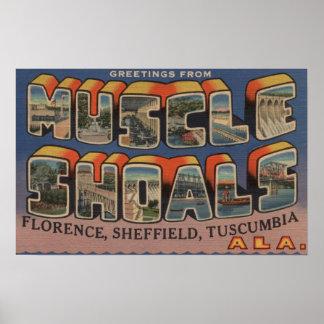 Muscle Shoals, Alabama - Large Letter Scenes Poster