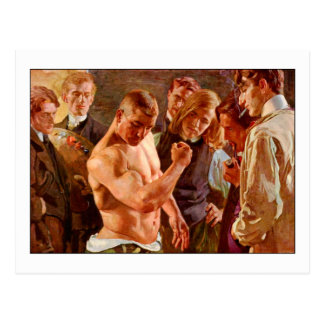 Muscles by Osmar Schindler Postcard