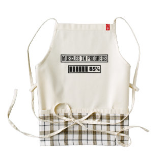 Muscles in Progess workout  Zpf7n Zazzle HEART Apron