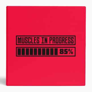 Muscles in progress Workout Z8gnr 3 Ring Binder