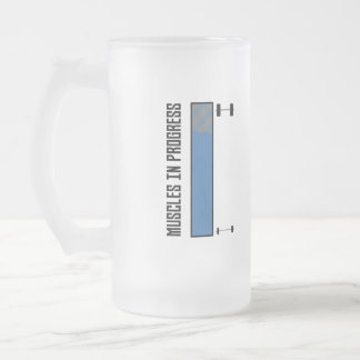 Muscles in progress workout Z8jh1 Frosted Glass Beer Mug