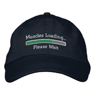 Muscles Loading Please Wait Embroidered Hats