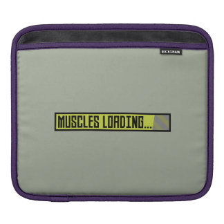 Muscles Loading Progressbar Zqy9t iPad Sleeve