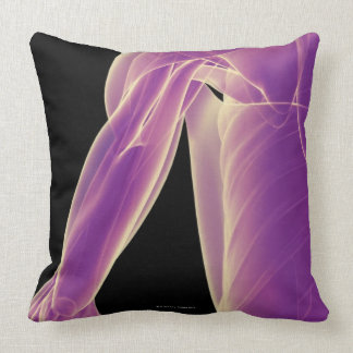 Muscles of the Shoulder 3 Throw Pillows