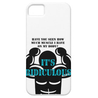 muscles so strong it's ridiculous funny iPhone SE/5/5s case
