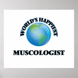 Muscologist más feliz del mundo póster