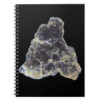 Muscovite Mica Photo on Black Background Notebook