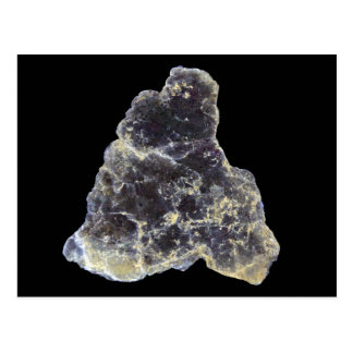 Muscovite Mica Photo on Black Background Postcard