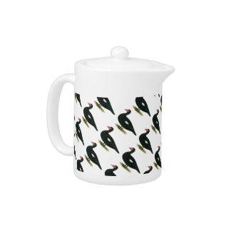 Muscovy Black  Drake Teapot