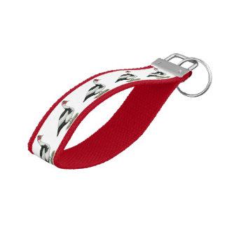 Muscovy Black Pied Drake Wrist Keychain