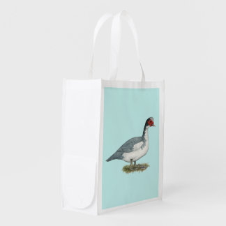 Muscovy Blue Pied Drake Market Tote