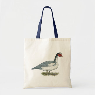 Muscovy Blue Pied Drake Tote Bag