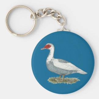Muscovy Blue Pied Duck Keychain