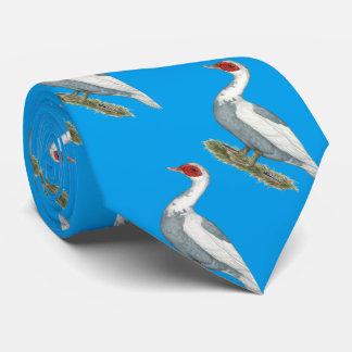 Muscovy Blue Pied Duck Neck Tie