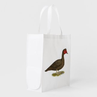 Muscovy Drake Chocolate Reusable Grocery Bags